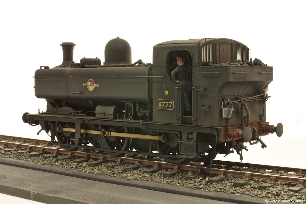 GWR pannier tank locomotive rear three-quarter view