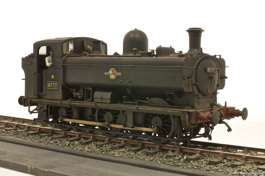 GWR pannier tank locomotive front three-quarter view