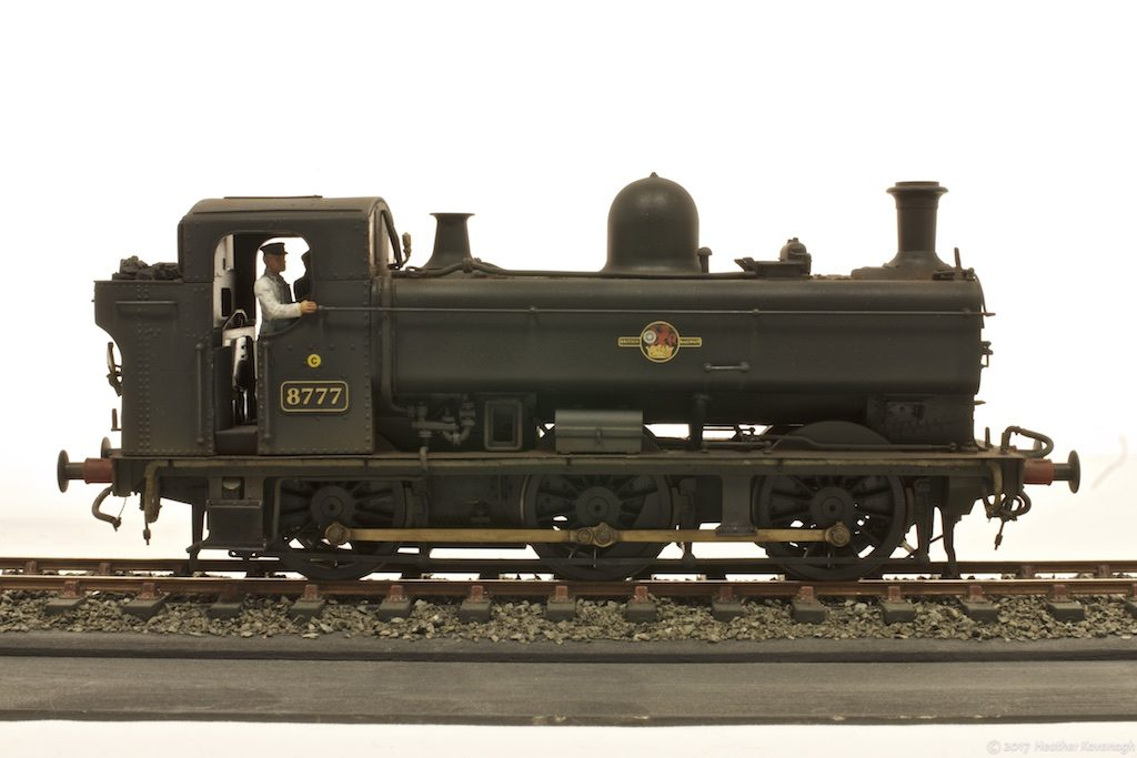 GWR pannier tank locomotive in profile
