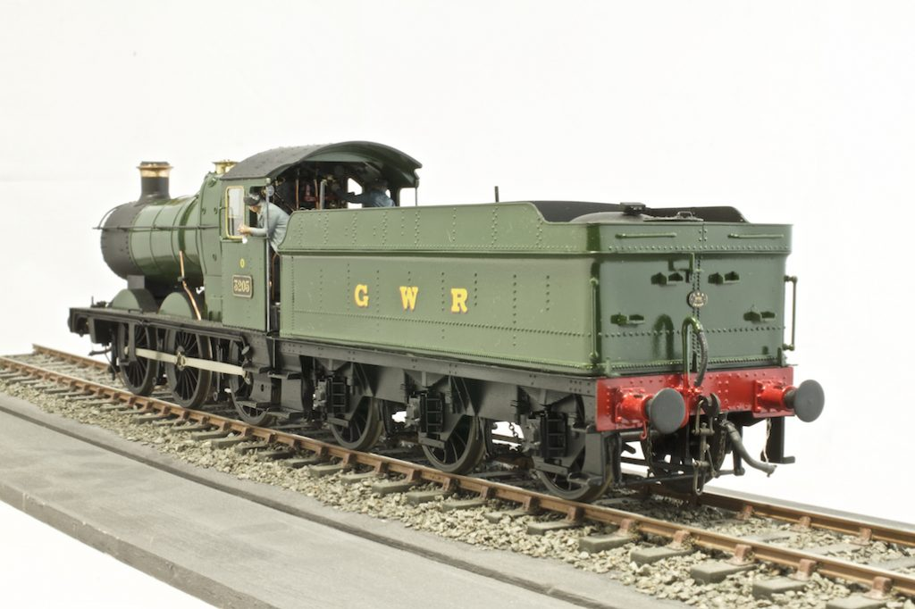7mm scale model locomotive of a GWR Collett goods tender engine